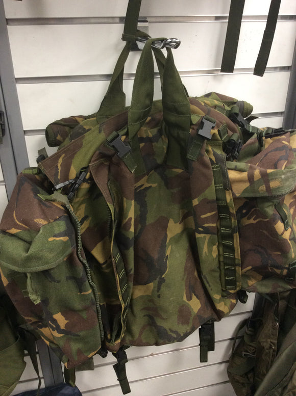 British army surplus dpm turtle pack began with pouches