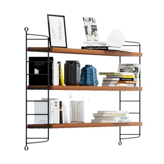 String Pocket Shelving Walnut & Black  : www.decorelo.co.uk
