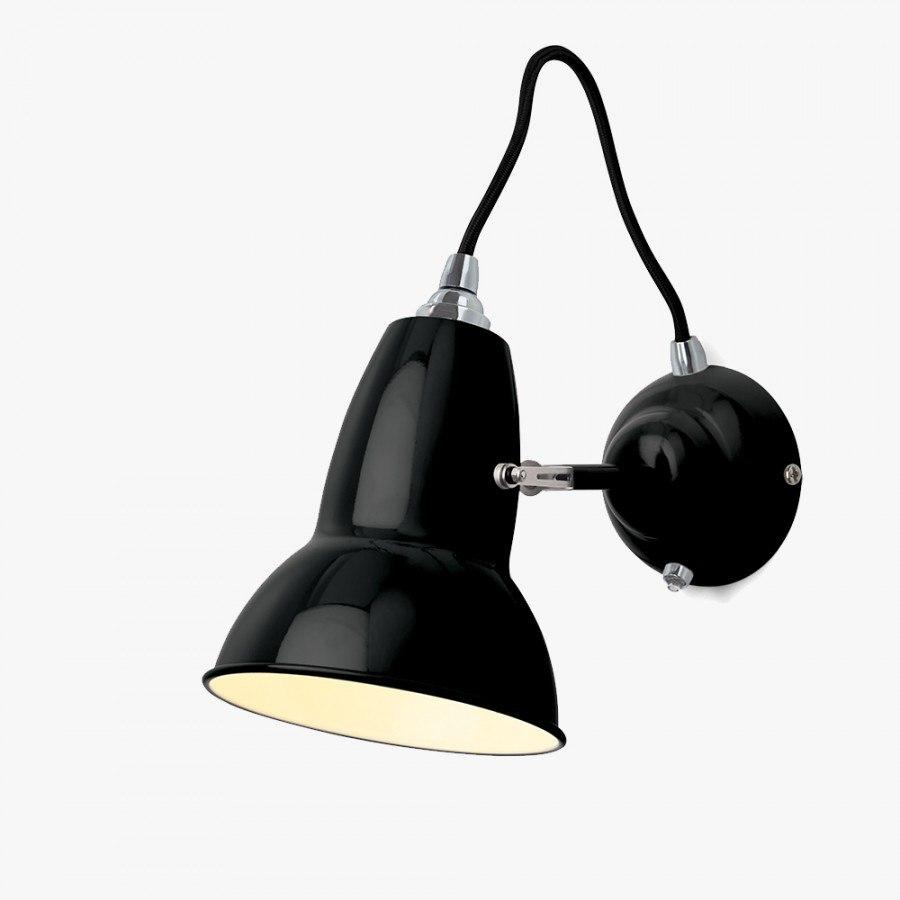 Anglepoise Original 1227 Wall Light  Jet Black - Black Cable: www.decorelo.co.uk