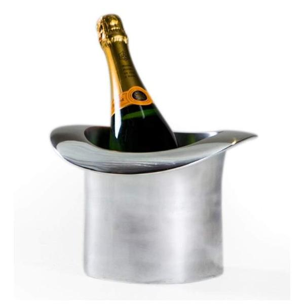 Polished Aluminium Top Hat Ice Bucket