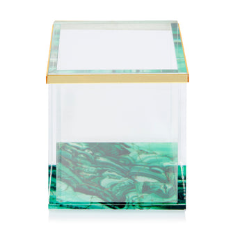 Malachite Acrylic Pot