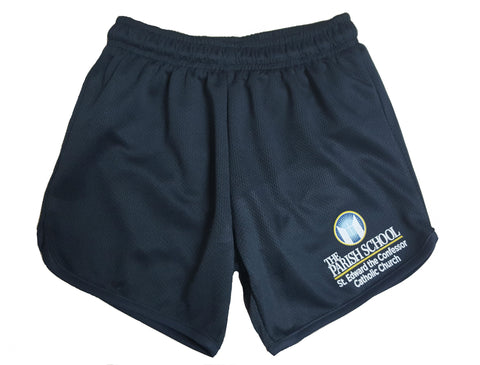 Girls PE Performance Short. Built in Brief.