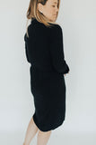 """Bristol"" Button Down Dress, Black"