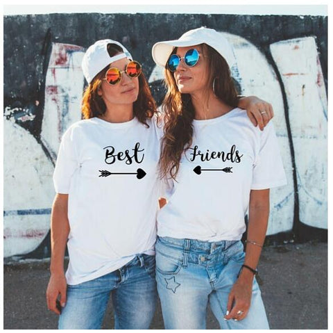 best friends T-Shirt Tumblr Couples BFF Bestie Tee Best Friend  Matching Tops Bestie Gift Best Sister Tee Camisetas - Embrace Luxury