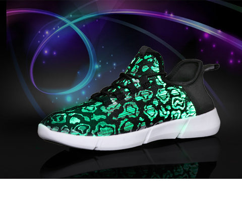USB Rechargeable Sneakers with Light