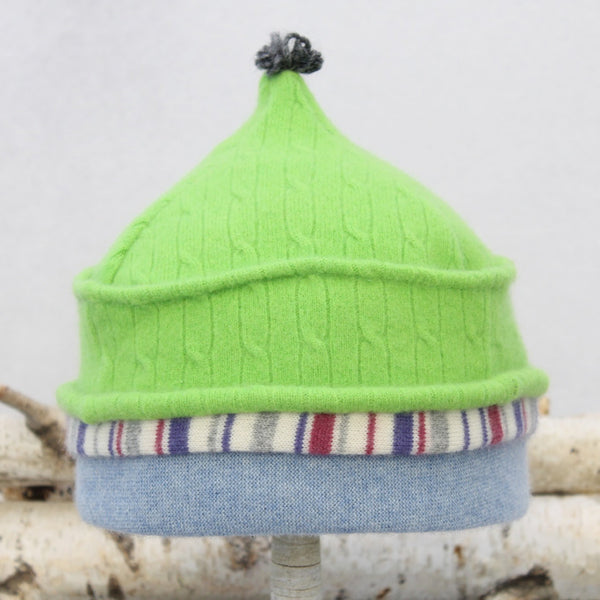 Onion Hat ON9078 Bright Green w/ Blue & Raspberry
