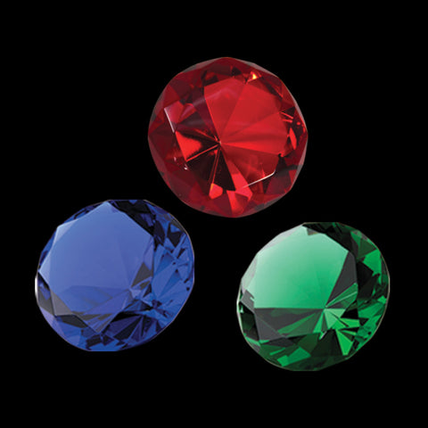 C-138 (COLOR)  CRYSTAL DIAMOND PAPERWEIGHT (COLOR)