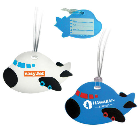 MI-0618  SOFT PVC  AIRPLANE LUGGAGE TAG