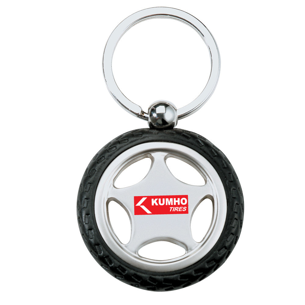 MI-3161  RUBBER/ METAL TIRE KEY CHAIN