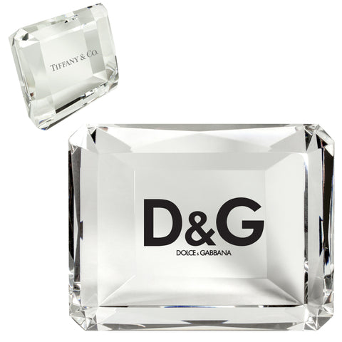 C-320  CRYSTAL RECTANGLE PAPERWEIGHT