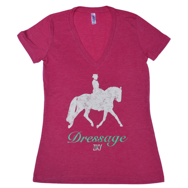 Dressage V-neck t-shirt