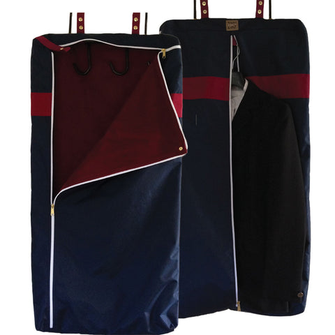 Navy garment bridle bag combination