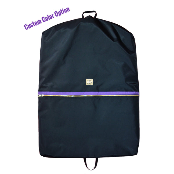 Navy purple garment bag