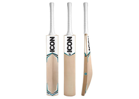 ICON Signature X English Willow Cricket Bat - Boys/Junior