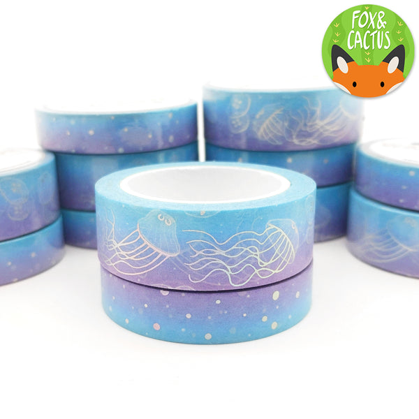 Holo Foil Jellyfish Washi Tape Set (W0081 + W0082)