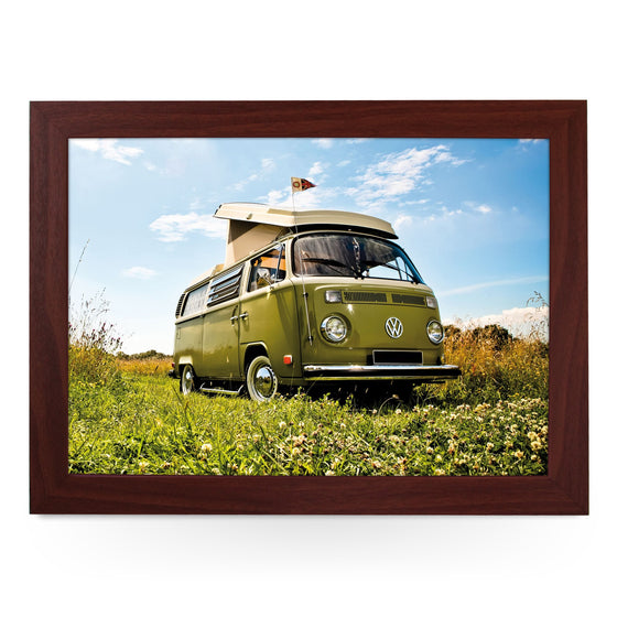 VW Camper in Green Lap Tray - L0102