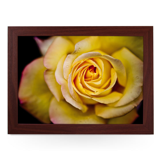Yellow Rose Lap Tray - L0107