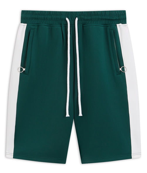 Green and white rock Shorts