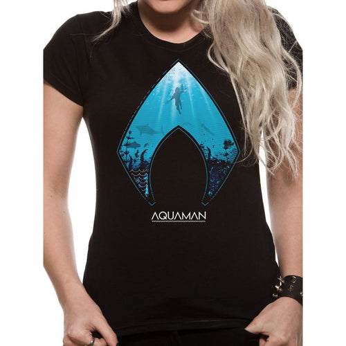 Aquaman | Logo And Symbol Fitted T-Shirt