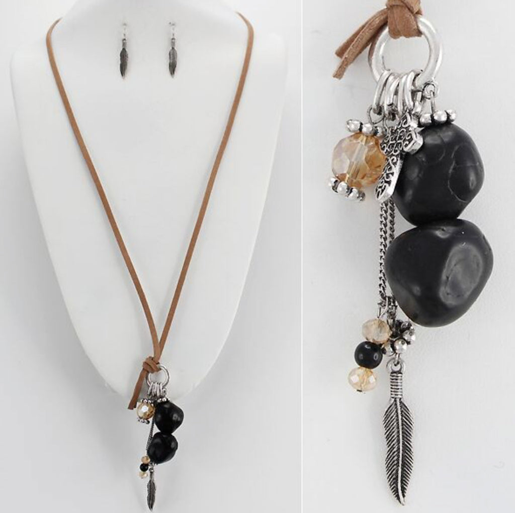 Leather Chain Urban Charm Necklace