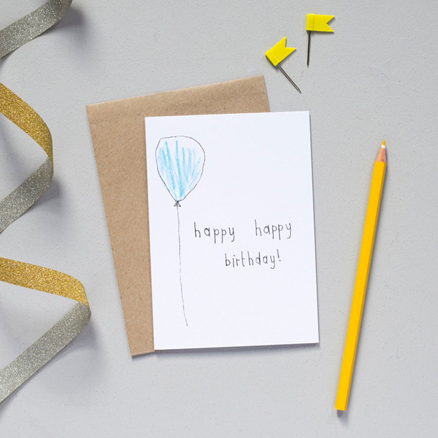 'Happy, Happy Birthday!' Greetings Card