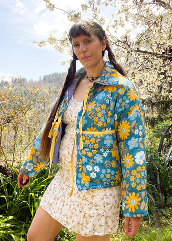 Vintage 90's Bright Rainbow Patterned Shirt - S