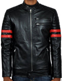 Biker Jacket - Men Real Lambskin Leather Jacket KM003 - Koza Leathers