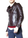 Biker Jacket - Men Real Lambskin Leather Jacket KM043 - Koza Leathers