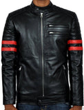 Biker Jacket - Men Real Lambskin Leather Jacket KM040 - Koza Leathers