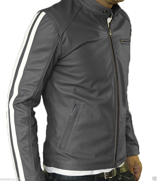 Biker Jacket - Men Real Lambskin Leather Jacket KM050 - Koza Leathers