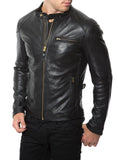 Biker Jacket - Men Real Lambskin Leather Jacket KM027 - Koza Leathers
