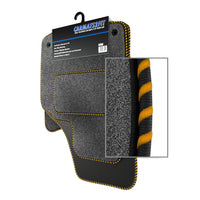 View of a collection of Tailored custom car mats, specifically Hyundai Accent (2007-present) Custom Carpet Car Mats