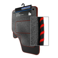 View of a collection of Tailored custom car mats, specifically Chrysler Crossfire (2004-2008) Custom Carpet Car Mats