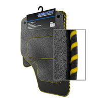 View of a collection of Tailored custom car mats, specifically Chevrolet Spark (2010-2013) Custom Carpet Car Mats
