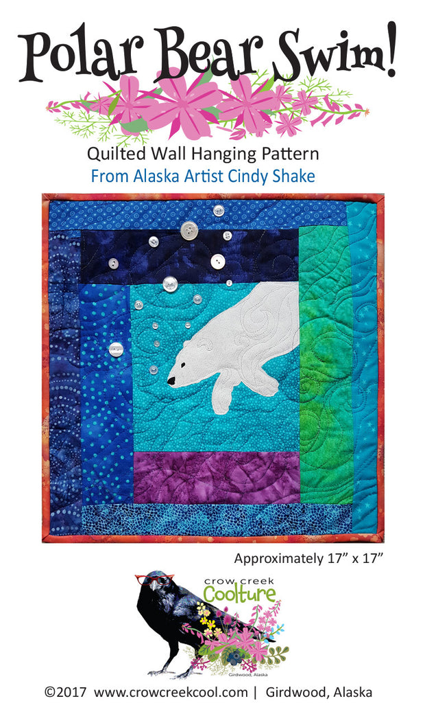 Quilted Wall Hanging Pattern - Polar Bear Swim!