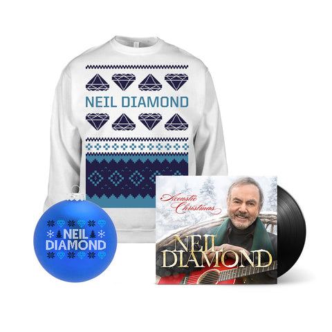 Acoustic Christmas LP + Holiday Sweatshirt + Holiday Ornament