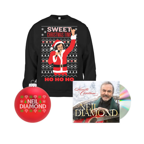 Acoustic Christmas CD + Christmas Sweatshirt + Christmas Ornament