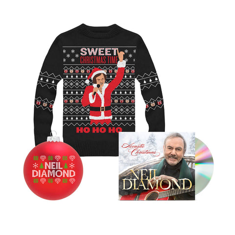Acoustic Christmas CD + Christmas Knit Sweater + Christmas Ornament