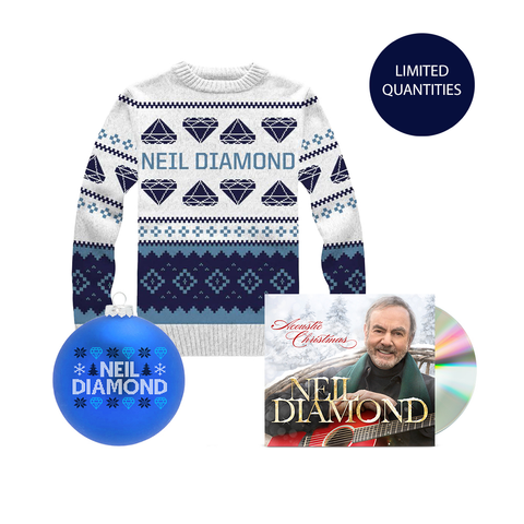 Acoustic Christmas CD + Holiday Knit Sweater + Holiday Ornament