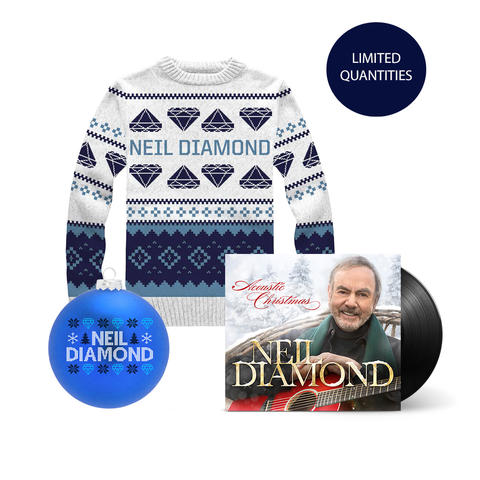 Acoustic Christmas LP + Holiday Knit Sweater + Holiday Ornament