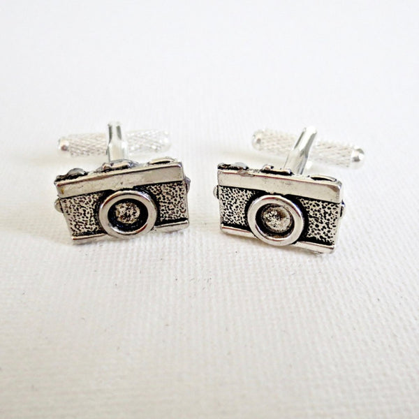 Silver Camera Photographer Cufflinks - MarkandMetal.com