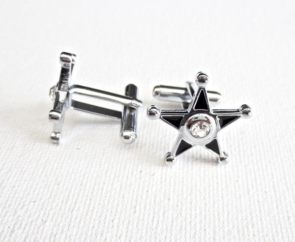 Sheriff's Police Badge Cufflinks - MarkandMetal.com