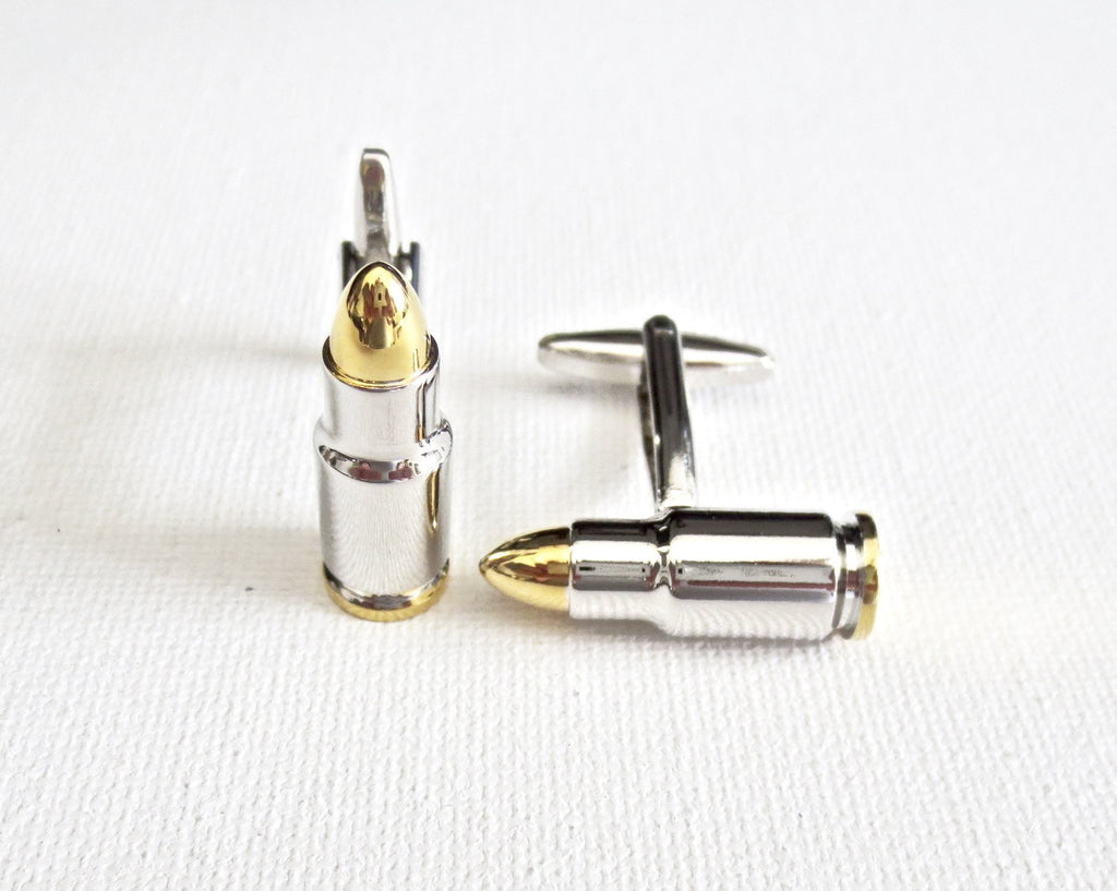 Bullets Military Cufflinks - Groomsmen Groom Wedding Gift For Him