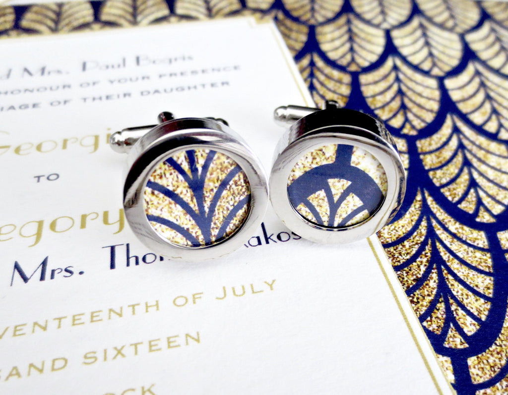 Wedding Invitation Cufflinks - MarkandMetal.com