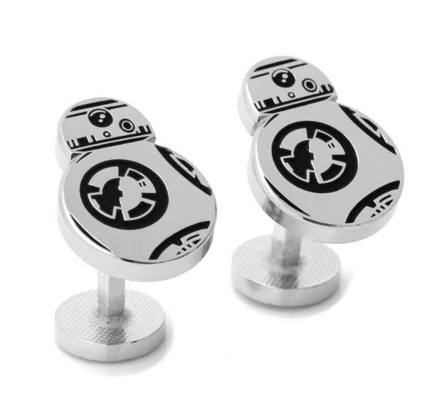 BB-8 Silver Cufflinks BY STAR WARS - Groomsmen Groom Wedding Gift For Him
