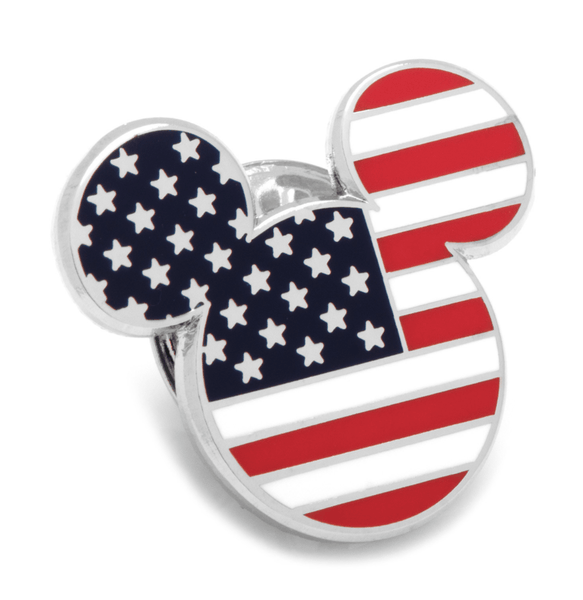 American Flag Mickey Mouse Lapel Pin BY DISNEY - Groomsmen Groom Wedding Gift For Him