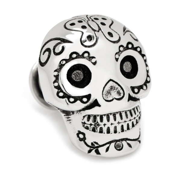 Day of the Dead Skull 3D Lapel Pin - Groomsmen Groom Wedding Gift For Him