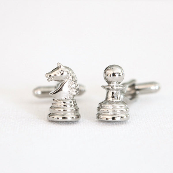 Chess Player Cufflinks - Groomsmen Groom Wedding Gift For Him