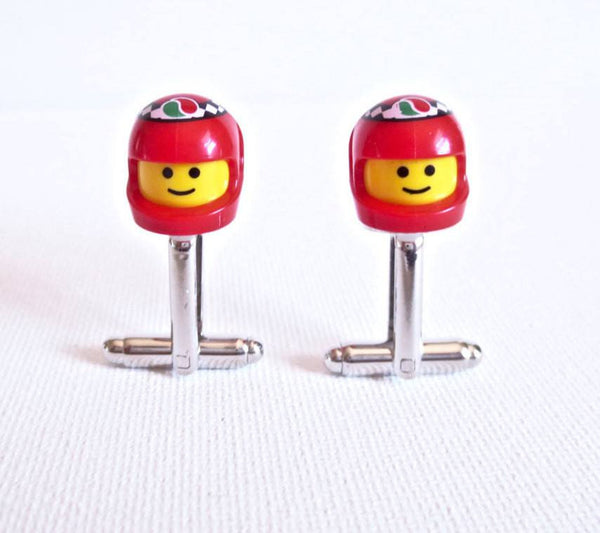 LEGO Race Car Driver Cufflinks - MarkandMetal.com