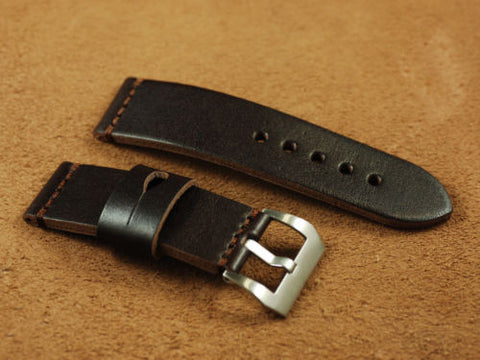 24mm Chocolate Brown, Smooth Genuine Leather